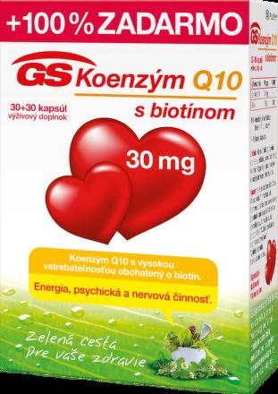 GS Koenzym Q10 30mg 30+30cps