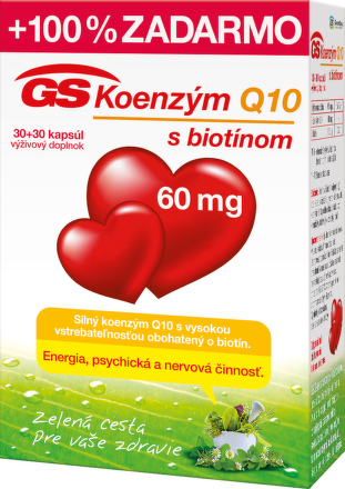 GS Koenzym Q10 60mg 30+30cps