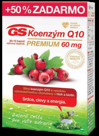 GS Koenzym Q10 Premium, cps 30+15