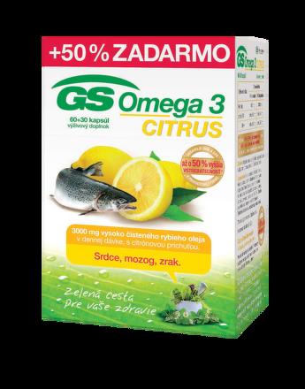 GS Omega 3 Citrus, cps 60+30