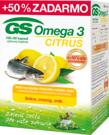GS Omega 3 Citrus, cps 100+50