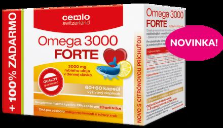 Cemio Omega 3000 FORTE citrón 60+60cps