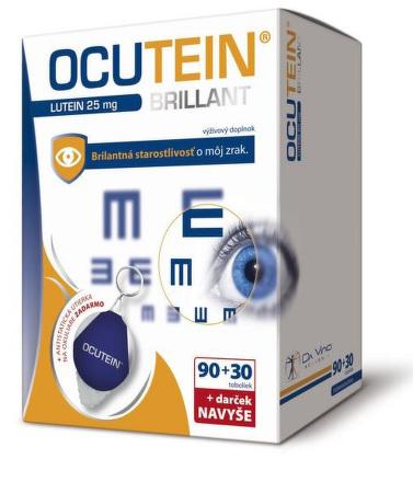 Ocutein Brillant Lutein DaVinci 90+30 cps + DARČEK