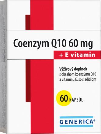 Koenzým Q10 60mg +Vitamín E 60ks