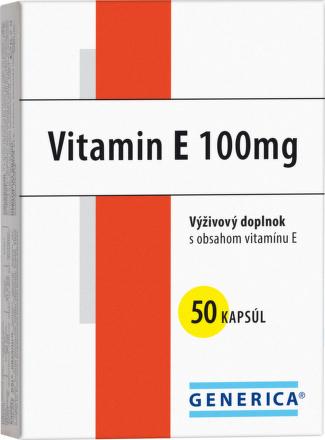 Vitamín E 100mg 50cps