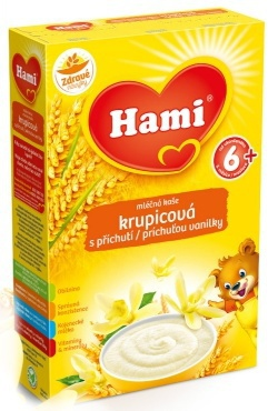 Hami mliečna kaša ryžová s príchuťou vanilky 225g