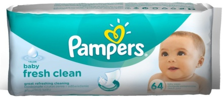 Pampers Wipes Baby Fresh 4x64 ks