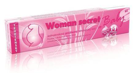 Woman secret tehotenský test prúžkový 1+1 ZADARMO