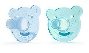 AVENT Cumlík Soothie 0% BPA chlapec 2ks