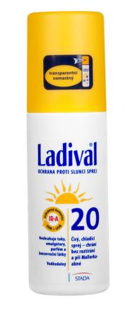 LADIVAL P+T Plus 20 LF sprej na ochranu proti slnku 150 ml