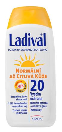 LADIVAL P+T Plus 20 LF  (mlieko na ochranu proti slnku 1x200 ml)