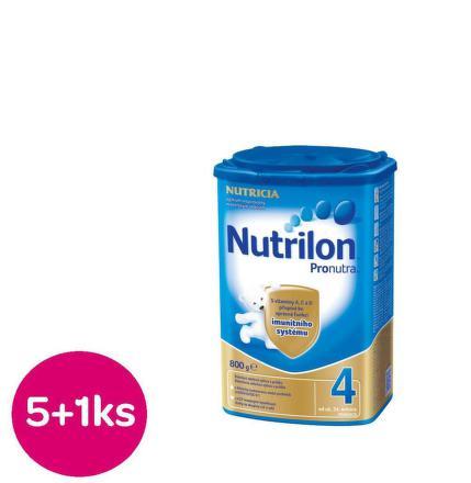Nutrilon 4 Pronutra Vanilka 800g Akcia 5+1ks zdarma