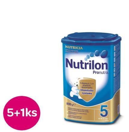 Nutrilon 5 Pronutra 800g AKCIA 5+1 ks zdarma