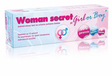 Woman secret Girl or Boy test na určenie pohlavia