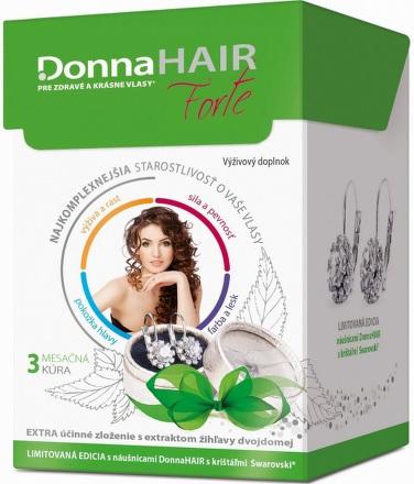 Donna HAIR Forte 3-mesačná kúra 90cps+náušnice Swarovski 2016