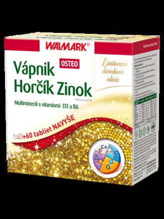 Walmark Vápnik Horčík Zinok Osteo 140+60 tabliet
