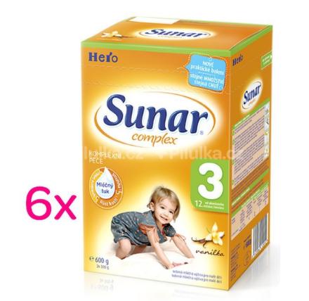 Sunar Complex 3 vanilka 600g balenie 6ks