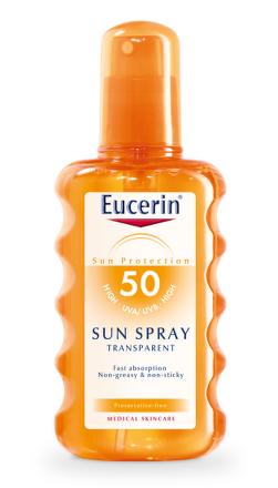 EUCERIN SUN Transparentný sprej SPF50 200ml 63907