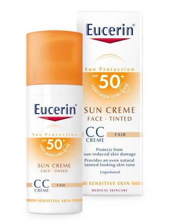 Eucerin CC krém na opaľovanie SUN CREME SPF 50+