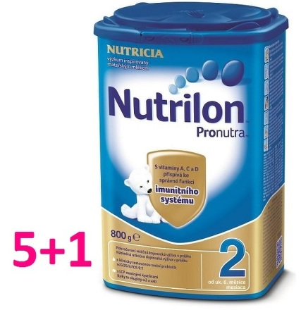 Nutrilon 2 Pronutra 800g AKCIA 5+1 ks zdarma
