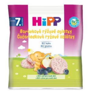HiPP BIO Čučoriedkové rýžové OBLÁTKY