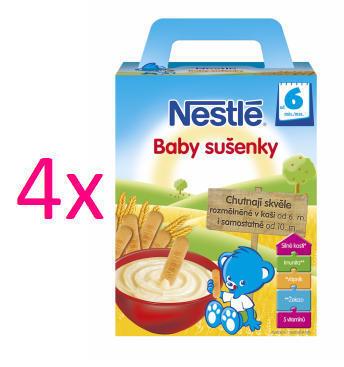 NESTLÉ Baby sušienky 2 x 90g akcia 3+1 zdarma