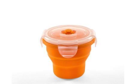 NUVITA Univerzálna skladacia silikónová nádoba na potraviny 230ml, Oranžová