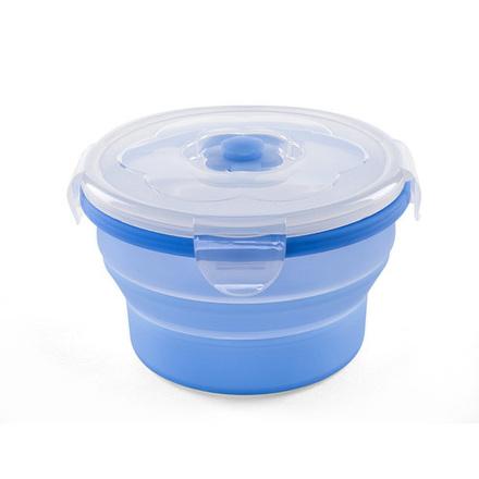 NUVITA Univerzálna skladacia silikónová nádoba na potraviny 540ml modrá