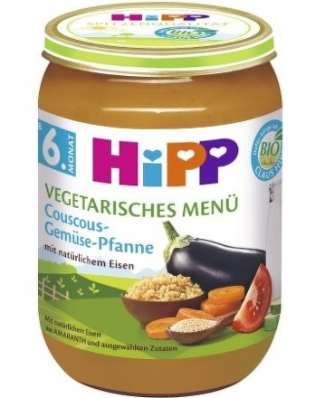 HiPP BIO Kuskus se zeleninou Vegetariánske menu