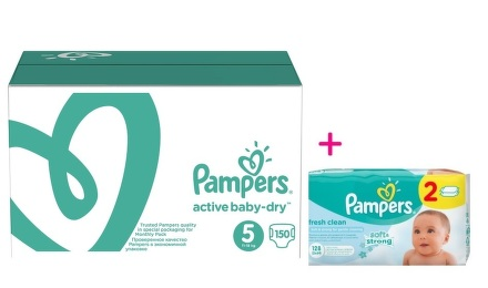 Pampers S5 Active Baby Monthly Box 150ks
