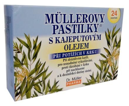 Müllerove pastilky s kajeputovým olejom 24ks