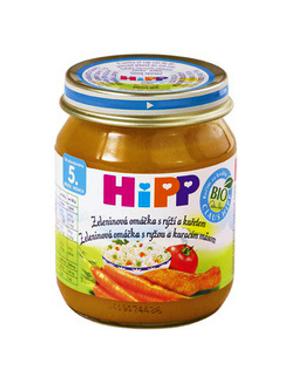 HiPP BIO Zeleninová omáčka s ryžou a kuracím mäsom 125g