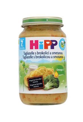 HiPP BIO Tagliatelle s brokolicou a smotanou 220g