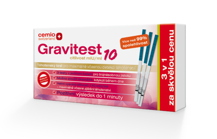 Cemio Gravitest10 mlU/ml, 3v1