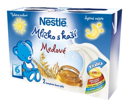 NESTLÉ Medové mliečko s kašou 2x200 ml