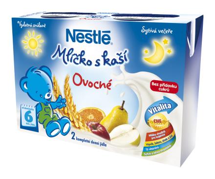 NESTLÉ Ovocné mliečko s kašou 2x200 ml