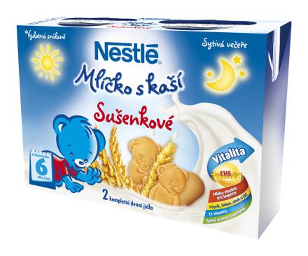 NESTLÉ Mliečko s kašou sušienkové 2x200ml