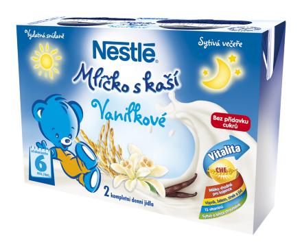 NESTLÉ Vanilkové mliečko s kašou 2x250ml