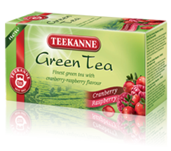 Teekanne Green Tea Brusnice, maliny 20x1,75g