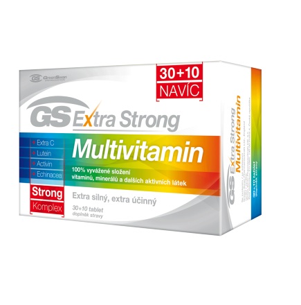 GS Extra Strong Multivitamín tbl.30+10