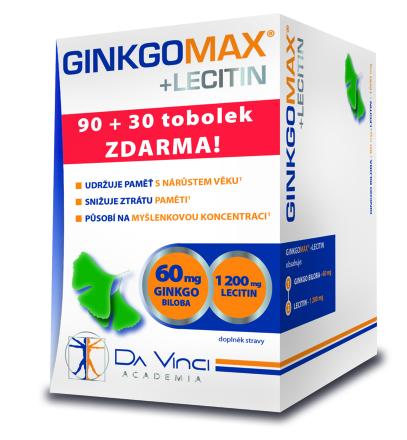 Da Vinci Academia GinkgoMAX + Lecitin 90+30 tbl zdarma