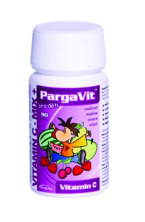 PargaVit Vitamín C MIX pre deti 90tbl