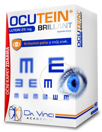 Ocutein Brillant Lutein 25mg DaVinci 60 tob.+ očné kvapky zdarma