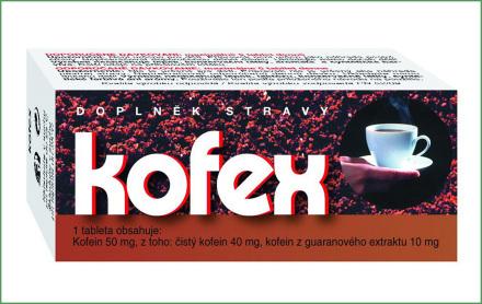Kofex tbl.80 prír. kofein + guarana